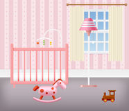 Baby Room for Girl With Furniture Stock Photography