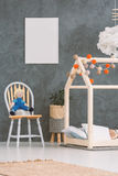 Baby room with house bed stock photography