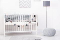 Baby room interior with crib royalty free stock photos