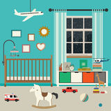 Baby room interior. Stock Image