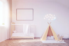 Baby room with a moon, toned Stock Photography