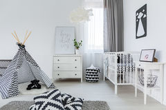 Baby room in nordic style Royalty Free Stock Photography