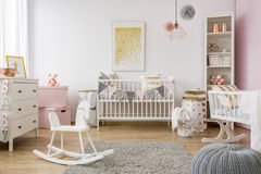 Baby room in scandinavian style Royalty Free Stock Photography