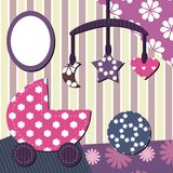 Baby room scrapbook style Stock Photography