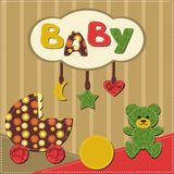 Baby room scrapbook style Royalty Free Stock Photography