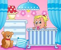 Baby room theme image 1 Royalty Free Stock Image