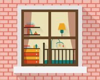 Baby room through the window. Royalty Free Stock Photo