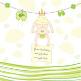 Baby on the rope for drying, illustration Stock Image
