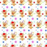 Baby-Rotwild-Weihnachtsmuster Lizenzfreies Stockfoto