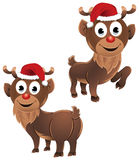 Baby Rudolph The Reindeer Two Poses Royalty Free Stock Image