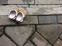 Baby& x27; s凉鞋 免版税库存照片
