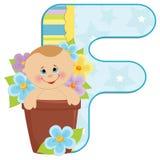 Baby's alphabet Stock Photo
