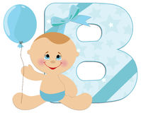Baby's alphabet Stock Photography