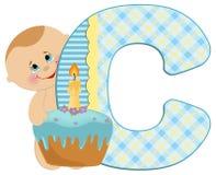 Baby's alphabet Stock Photos