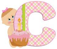 Baby's alphabet Stock Images