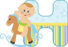 Baby's alphabet Stock Image