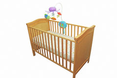 Baby's bed vector illustration