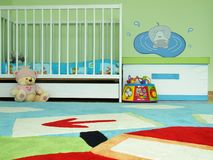 Baby's bedroom Royalty Free Stock Images