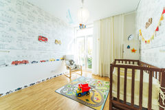 Baby's bedroom . Royalty Free Stock Images