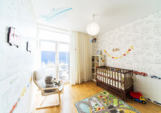 Baby's bedroom . Royalty Free Stock Photos