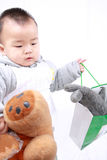Baby's behavior Stock Photo