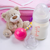 Baby's belongings Stock Photo