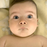 Baby's big eyes Royalty Free Stock Photos