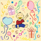 Baby's birthday Royalty Free Stock Images
