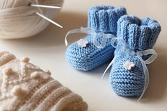 Baby's bootees Royalty Free Stock Photo