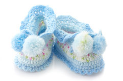 Baby's bootees Stock Images