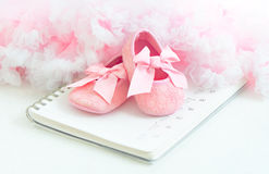 Baby's bootees Royalty Free Stock Photography