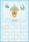 Baby's calendar for 2011. Baby's calendar for year 2011 vector illustration