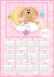 Baby's calendar for 2011. Baby's calendar for year 2011 Royalty Free Stock Photos