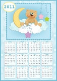 Baby's calendar for 2011. Baby's calendar for year 2011 stock illustration