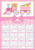Baby's calendar for 2011. Baby's calendar for year 2011 royalty free illustration