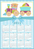 Baby's calendar for 2011. Baby's calendar for year 2011 Stock Photo