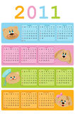 Calendar for 2011. Calendar for year 2011 Royalty Free Stock Image