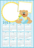 Baby's calendar for 2011. Baby's calendar for year 2011 with photo frames royalty free illustration