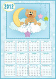 Baby's calendar for 2012 Royalty Free Stock Image