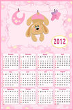 Baby's calendar for 2012. Baby's calendar for year 2012 vector illustration