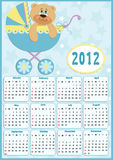 Baby's calendar for 2012. Baby's calendar for year 2012 royalty free illustration