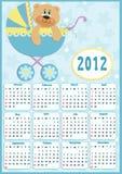 Baby's calendar for 2012 Stock Photo