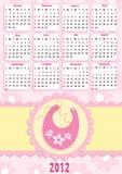 Baby's calendar for 2012 Stock Photos