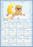 Baby's calendar for 2012 Royalty Free Stock Photography