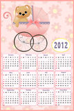 Baby's calendar for 2012 Stock Images