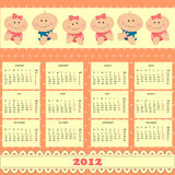 Baby's calendar 2012 Stock Image