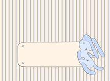 Baby's card with bunny Stock Photos