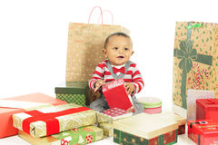 Baby's Christmas Joy Stock Images