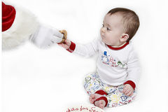 Baby's cookie for Santa Stock Image