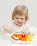 The baby's  dinner. Stock Images